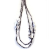 Hand Knitting Silver Plated String & Strand Necklace