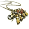 Gold Plated Alloy Rhinestone Elephant Chain Necklace