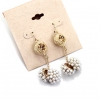 Fashion Golden Rhinestone Dangle Drop Earrings
