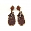 Personalized Plum Tree Dangle Earrings