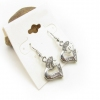 Simple Fashion Heart-shaped  Dangle Earrings
