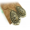 Vintage Bronze Dangle Earrings