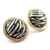 Fashion Round Shape Stud Earring With Stripe