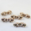 Fashion Multicolor Rhinestone Flower Stud Earring