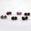 Simple Multicolor Six designs Rhinestone Stud Earring