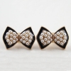 Lovely Pearl Bowknot Shape Stud Earring