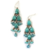 Fashion Water-drop Gold Plated Alloy Turquoise Earrings