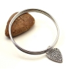 Fashion Leaf Shape Rhinestone Layered Bangle Bracelets