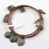 Vintage Multi-layer Bronze Love Lock Pendant Charm Bracelet