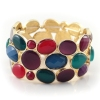 Exquisite Multicolor Gold Plated Alloy Stretch Bangle Bracelet