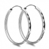 Luxury Sexy 925 Sterling Silver Hoop Earring
