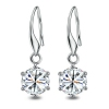 Simple Exquisite 925 Sterling Silver Crystal CZ Drop Earring