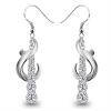 Luxury 925 Sterling Silver Cubic Zirconia Drop Earring