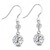 Korea Style Fashion Exquisite 925 Sterling Silver CZ Drop Earring