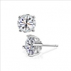 Exquisite 925 Sterling Silver Embedded CZ Stud Earring