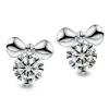 Lovely Exquisite Disney Sterling Silver Embedded CZ Stud Earring