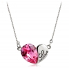 Exquisite Heart Shape 18K GP Austrian Crystal Pendant Necklace