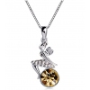 Chic Austrian Crystal Women's Pendant Necklace