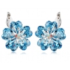 Fashionable Exquisite Flower Shape Austrian Crystal Stud Earring