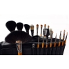 Top Wood Brush Set With Black Case 21 Pcs