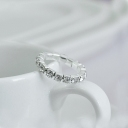 Trendy Simple Bling Adjustable Rhinistone Band Ring