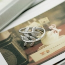 Korean Fashion Jewelry Lovely Leaf Band Ring
