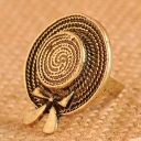 Chic Jewelry Elegant Hat Butterfly Vintage Ring