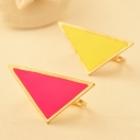 Punk Personalized Colorful Geometrical Band Ring