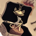 Vintage Hollowed Sexy Cat Chic Chain Necklace