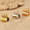 Punk Golden Rivet Clip-on Stud Earrings
