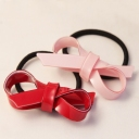 Personalized Bowknot Acrylic Resin Ponytail Holder