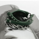 Korean Fashion Personlized Rivet Leather Bracelet