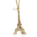 Fashion Golden Eiffel Tower Chain Necklace