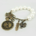 Vintage Link Bracelets with Pearl/Watch for ladies