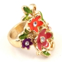 Charming multicolor Flowers Ring