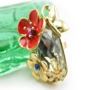 Chic Flowers Butterfly Band Ring