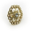 Classical Rhinestone Large Cocktail Ring