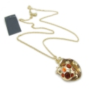 Lovely Golden Ladybug Pendant Chain Necklace