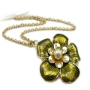 Fashion Flower Shape Chain Necklace