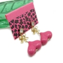 Bold Fashion Pink Heart-shaped Drop Dangle Earrings
