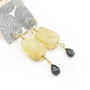 Fashion Natural Stone Drop Dangle Earrings