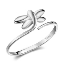 Exquisite Elegant Silver Butterfly Ring