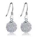 Exquisite Ball Shape 925 Sterling Silver Zircon Drop Earring