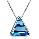 Exquisite Triangle Shape Austrian Crystal Pendant Necklace