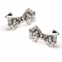 Korea Style Fashionable Bowknot Shape Zircon Stud Earring