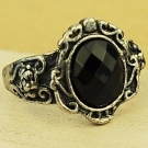 Vintage Artificial Large Cocktail black diamond Ring
