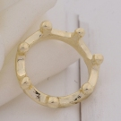 Lovely Simple Crown Shape Thin Band Ring for Women