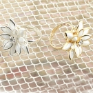 Chic elegant Modern fashion Flower Rings for Women