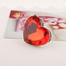 Bold Fashion Red Heart Shape Big Costume Cocktail Rings