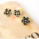 Sweet Sexy Black Rose Big Flower Fashion Ring